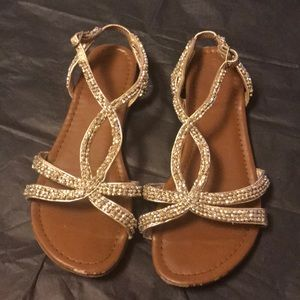 Other - (4) girls silver beaded sandals